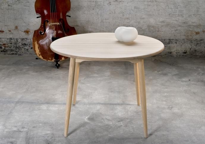Rundt spisebord med udtræk og ekstra tillægsplader | Rundt