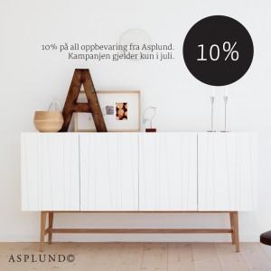 10 % på oppbevaring
